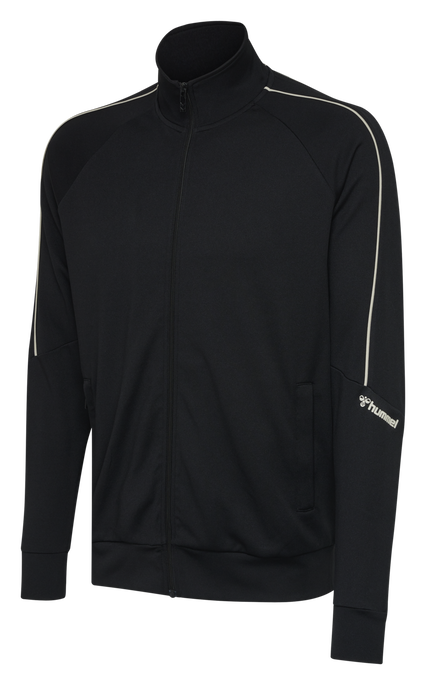 hmlAMOS ZIP JACKET, BLACK, packshot