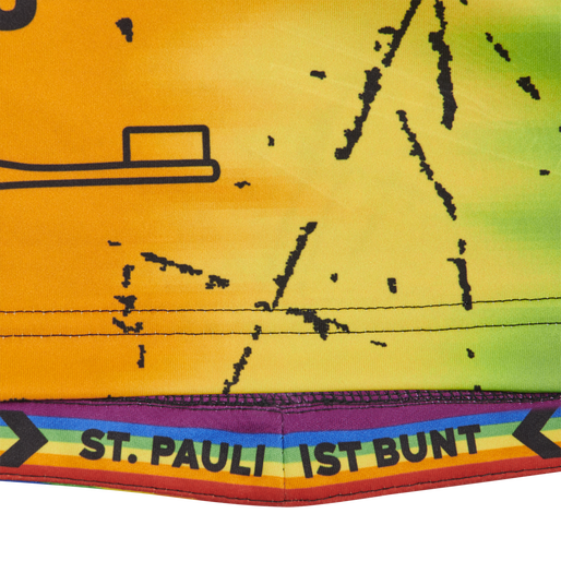 FC ST. PAULI RAINBOW 19/20 JERSEY S/S, MULTI COLOUR, packshot