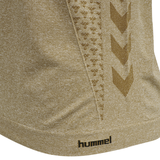 hmlCI SEAMLESS T-SHIRT S/S, ANTIQUE BRONZE MELANGE, packshot