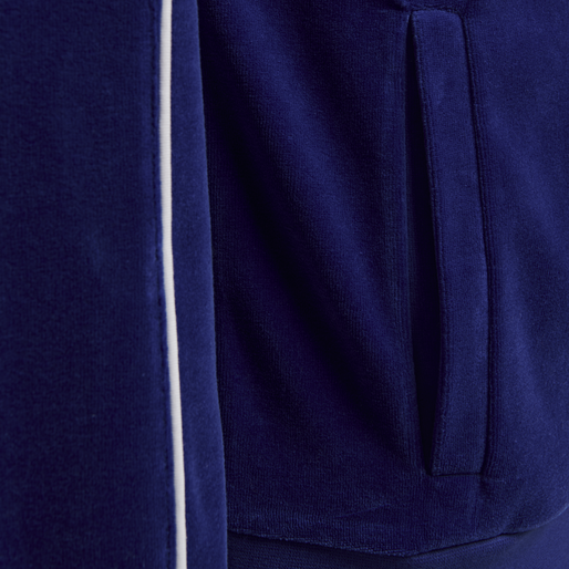 hmlFRISK VELOUR ZIP JACKET, MAZARINE BLUE, packshot