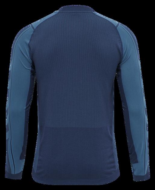 hmlRYDER SEAMLESS T-SHIRT L/S, BLUE SAPPHIRE/MEDIEVAL BLUE, packshot