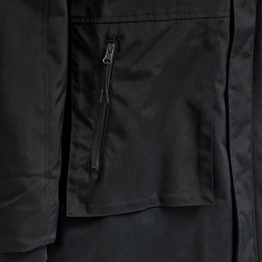 hmlEZRA COAT, BLACK, packshot