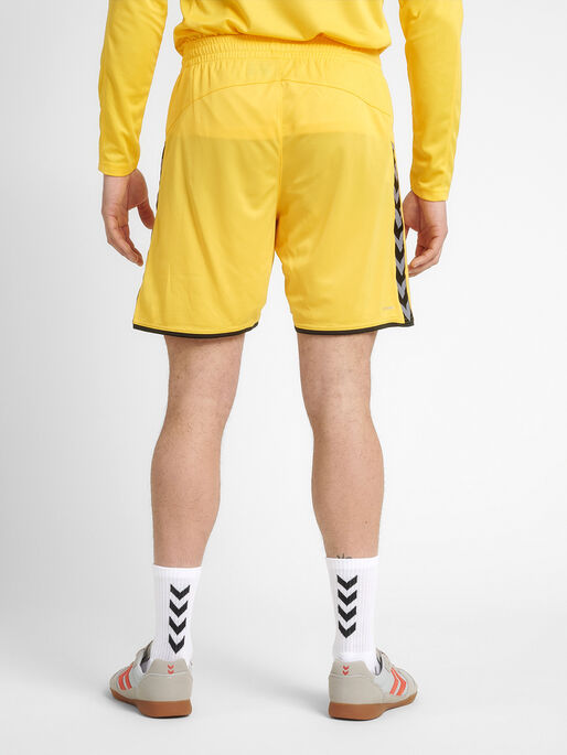 hmlAUTHENTIC POLY SHORTS, SPORTS YELLOW/BLACK, model