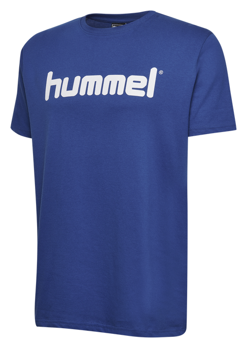 HUMMEL GO COTTON LOGO T-SHIRT S/S, TRUE BLUE, packshot
