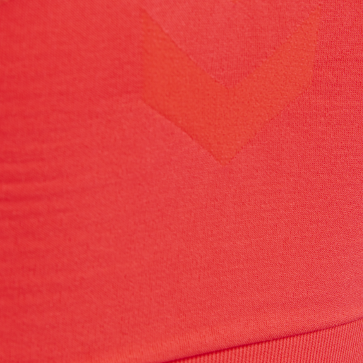 SUE SEAMLESS SPORTS TOP, FIERY CORAL, packshot