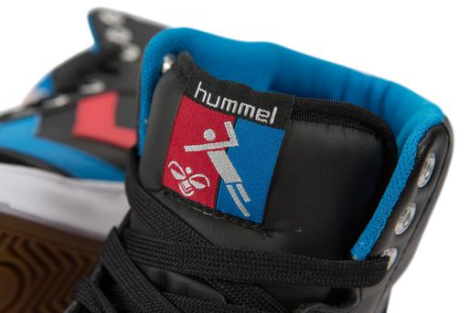 HUMMEL STADIL HIGH, BLACK/BLUE/RED/GUM, packshot