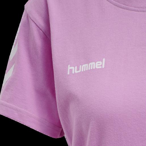 HUMMEL GO COTTON T-SHIRT WOMAN S/S, ORCHID, packshot