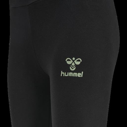 hmlSOMMER TIGHTS, BLACK/BASIL, packshot