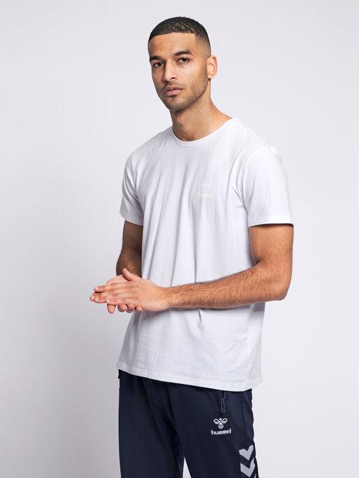 hmlSIGGE T-SHIRT S/S, WHITE, model