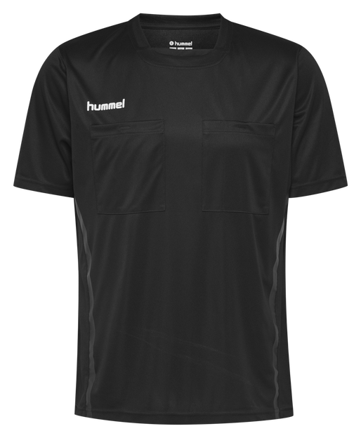 HMLREFEREE JERSEY S/S, BLACK, packshot