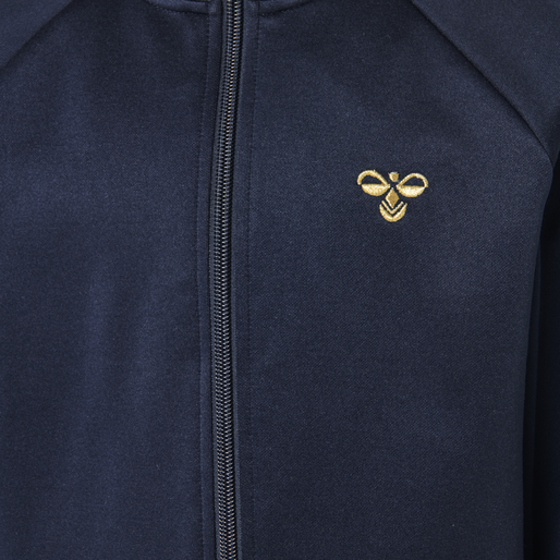 HMLKICK ZIP JACKET, BLACK IRIS/GOLD, packshot