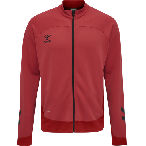 hmlLEAD POLY ZIP JACKET, TRUE RED, packshot