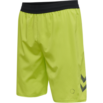 hmlLEAD PRO TRAINING SHORTS, LIME PUNCH, packshot