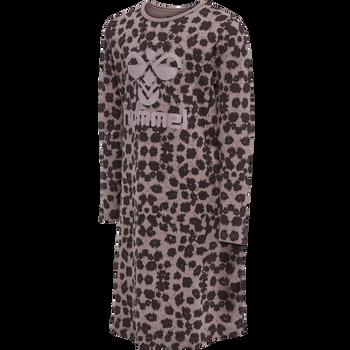 hmlCAROLINA NIGHT DRESS L/S, FUDGE , packshot