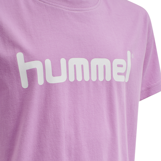 HUMMEL GO KIDS COTTON LOGO T-SHIRT S/S, ORCHID, packshot