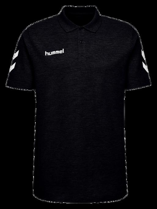 HUMMEL GO KIDS COTTON POLO, BLACK, packshot