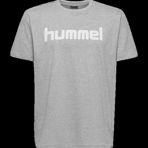 HUMMEL GO KIDS COTTON LOGO T-SHIRT S/S, GREY MELANGE, packshot
