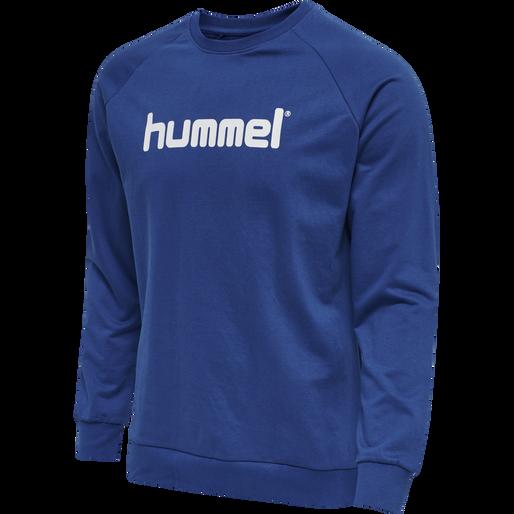HUMMEL GO COTTON LOGO SWEATSHIRT WOMAN, TRUE BLUE, packshot