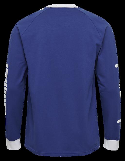 hmlBAY T-SHIRT L/S, MAZARINE BLUE, packshot