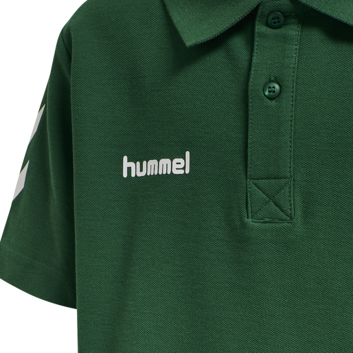 HUMMEL GO KIDS COTTON POLO, EVERGREEN, packshot