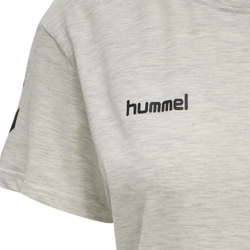 HUMMEL GO COTTON T-SHIRT WOMAN S/S, EGRET MELANGE, packshot
