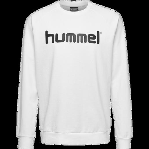 HUMMEL GO KIDS COTTON LOGO SWEATSHIRT, WHITE, packshot