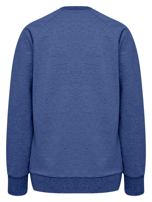HUMMEL GO COTTON LOGO SWEATSHIRT WOMAN, TRUE BLUE, packshot