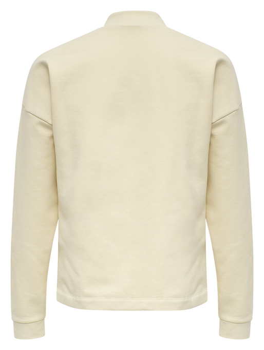 hmlFLEW SHORT SWEATSHIRT, BONE WHITE, packshot