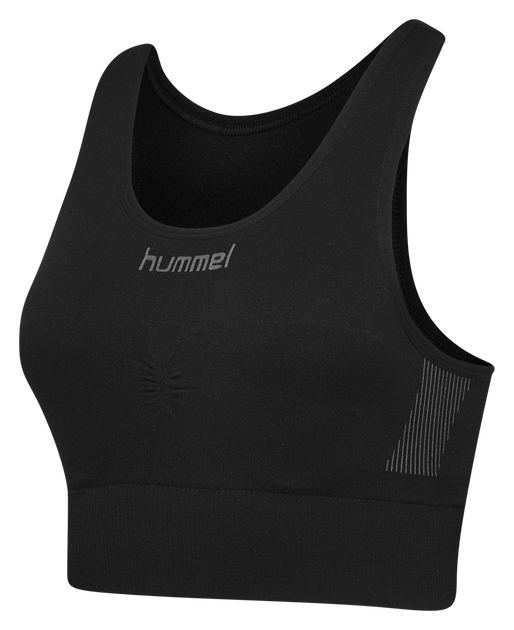 HUMMEL FIRST SEAMLESS BRA WOMEN, BLACK, packshot