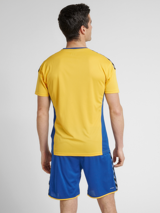 hmlAUTHENTIC POLY JERSEY S/S, SPORTS YELLOW/TRUE BLUE, model