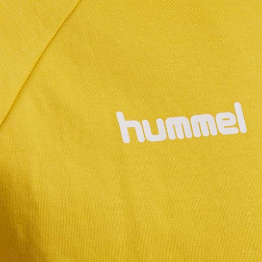 HUMMEL GO COTTON ZIP HOODIE, SPORTS YELLOW, packshot