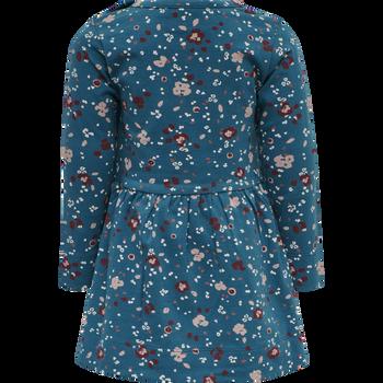 hmlFLORA DRESS L/S, BLUE CORAL, packshot