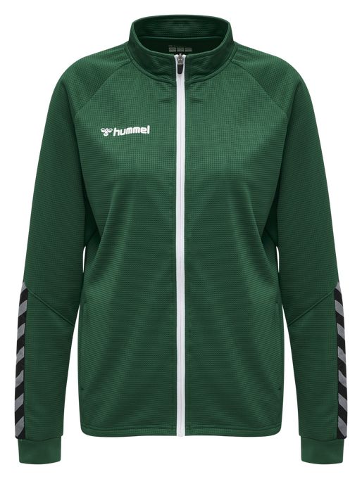 hmlAUTHENTIC WOMEN POLY ZIP JACKET, EVERGREEN, packshot