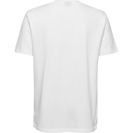 HUMMEL GO COTTON LOGO T-SHIRT S/S, WHITE, packshot