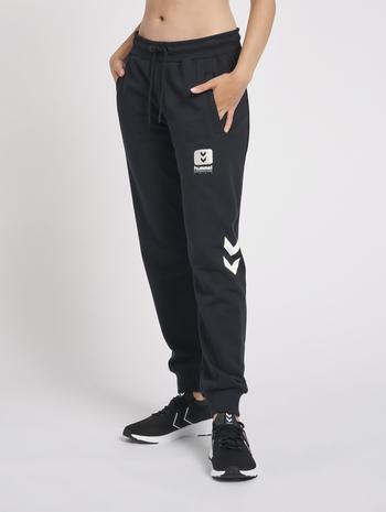 hmlLGC ALULA REGULAR PANTS, BLACK, model