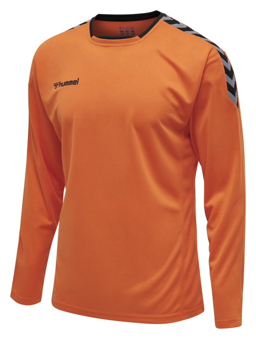 hmlAUTHENTIC POLY JERSEY L/S, TANGERINE, packshot