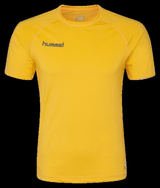 HUMMEL FIRST PERFORMANCE JERSEY S/S, SPORTS YELLOW, packshot