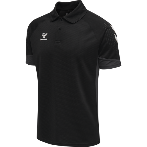 hmlLEAD FUNCTIONAL POLO, BLACK, packshot