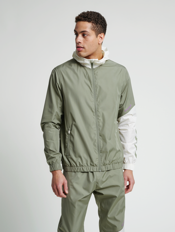 hmlSULLIVAN LOOSE ZIP HOODIE, VETIVER, model