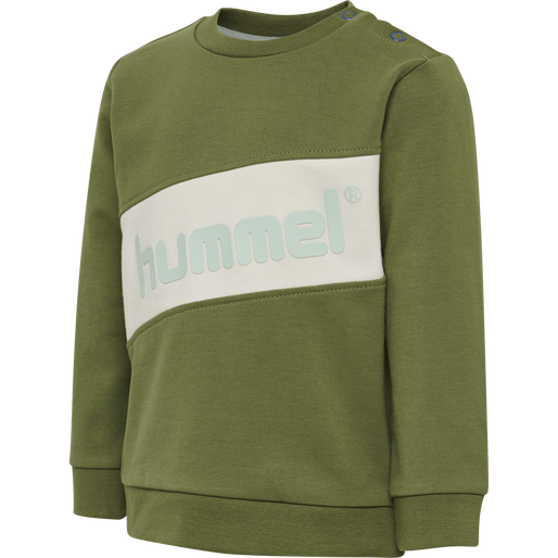 hmlCLEMENT SWEAT, PESTO, packshot