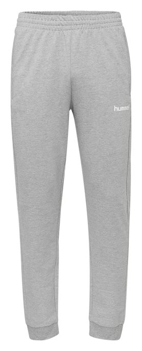 HUMMEL GO KIDS COTTON PANT, GREY MELANGE, packshot