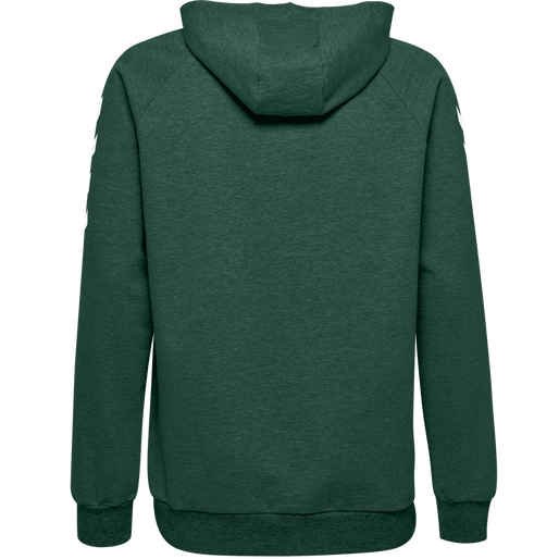 HUMMEL GO COTTON HOODIE, EVERGREEN, packshot