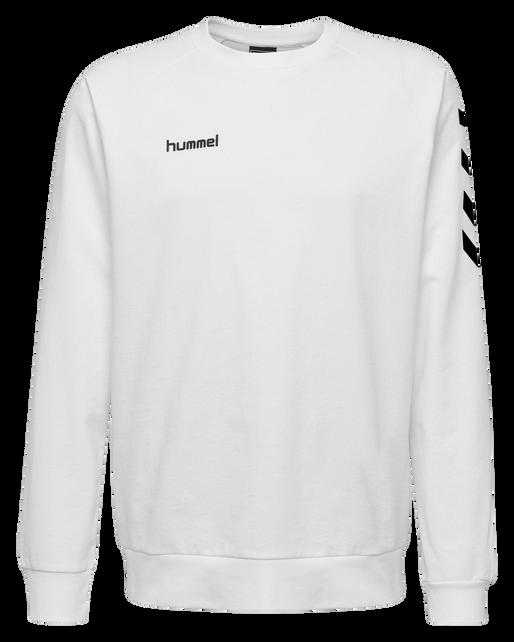HUMMEL GO COTTON SWEATSHIRT, WHITE, packshot