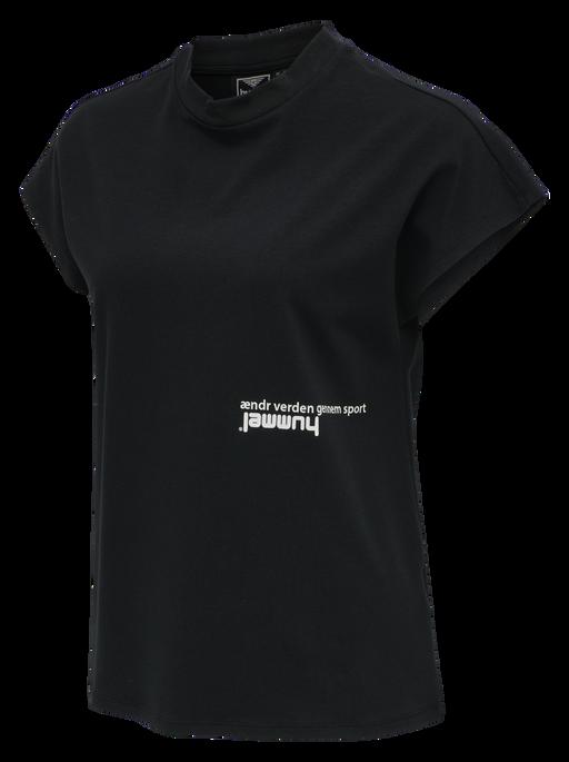 hmlHABITAT T-SHIRT, BLACK, packshot