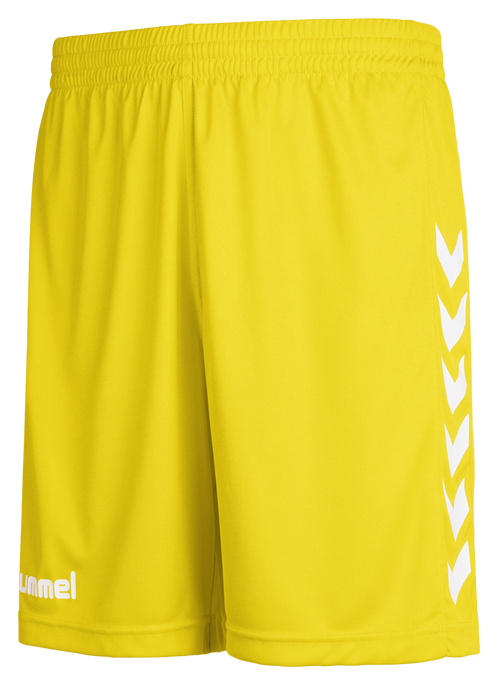 CORE POLY SHORTS, SPORTS YELLOW PR, packshot