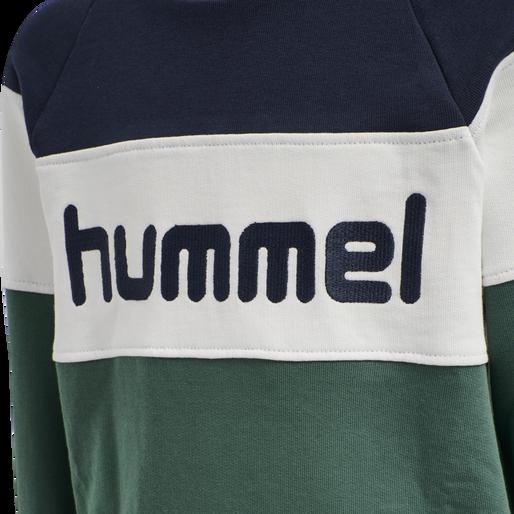 hmlCLAES SWEATSHIRT, MALLARD GREEN, packshot