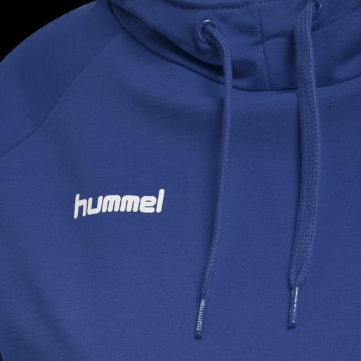 HUMMEL GO COTTON HOODIE WOMAN, TRUE BLUE, packshot