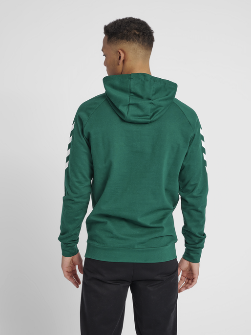 HUMMEL GO COTTON HOODIE, EVERGREEN, model