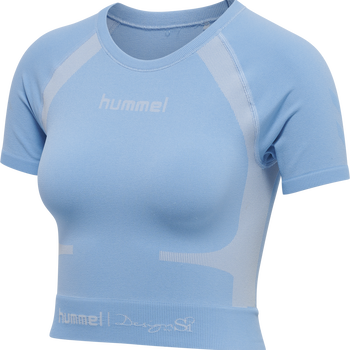 hmlSI SEAMLESS T-SHIRT S/S, BEL AIR BLUE, packshot