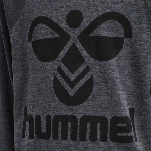 hmlSTEFF T-SHIRT L/S, GRAPHITE/BLACK, packshot
